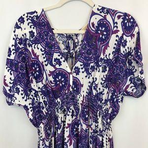 MICHAEL Michael Kors Empire Waist Maxi Dress Boho
